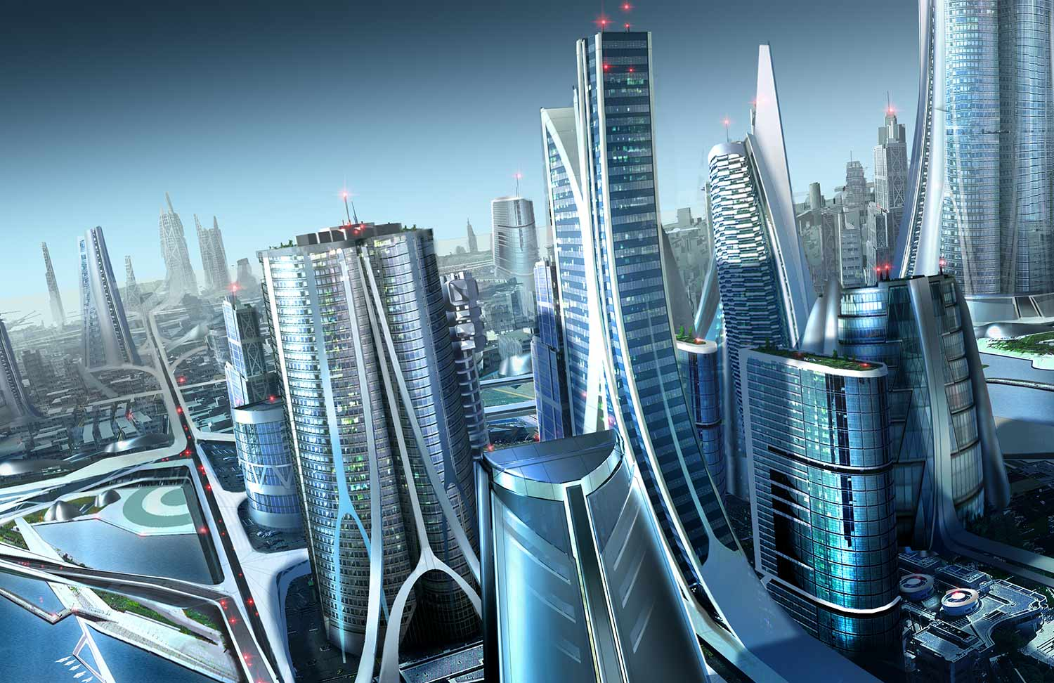 Cities of the Future by techgnotic on DeviantArt